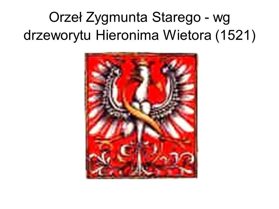 Orzeł Zygmunta Starego - wg drzeworytu Hieronima Wietora (1521)