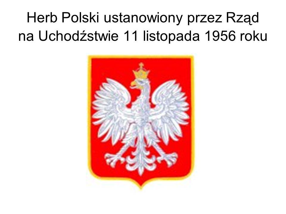 Herb Polski ustanowiony przez Rząd na Uchodźstwie 11 listopada 1956 roku