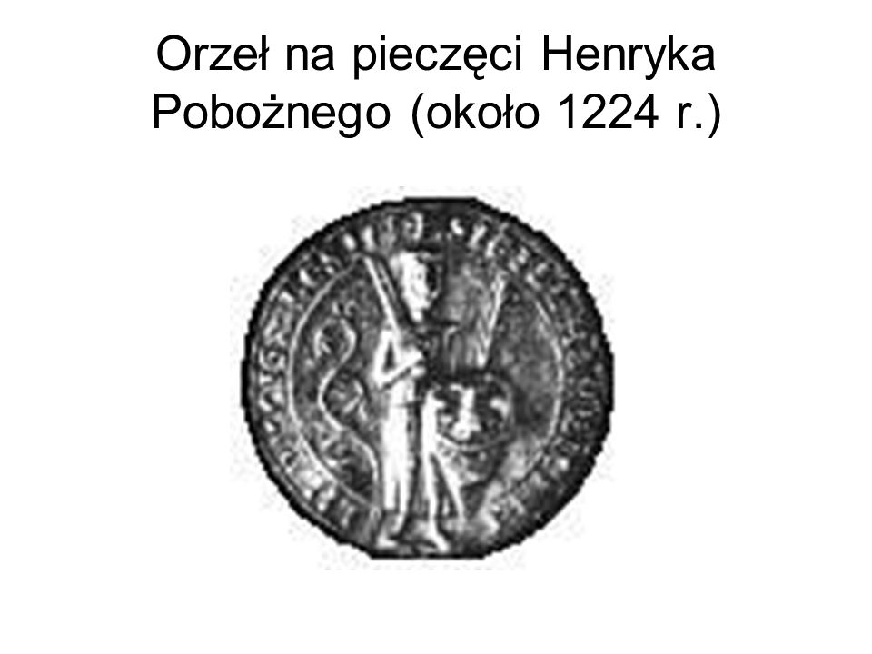 Orzeł na płycie nagrobnej Henryka IV Probusa (przełom XIII i XIV w.)