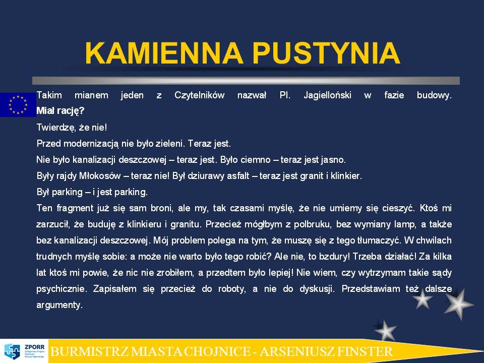 KAMIENNA PUSTYNIA BURMISTRZ MIASTA CHOJNICE - ARSENIUSZ FINSTER