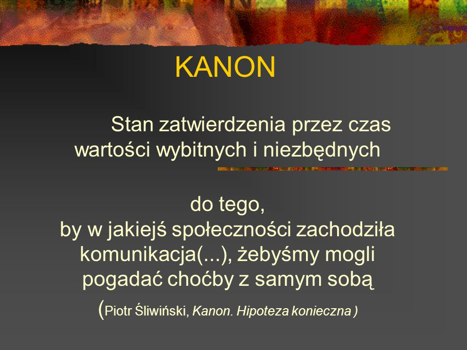 Teksty poznawane w całości lub w części (decyzja należy do nauczyciela).