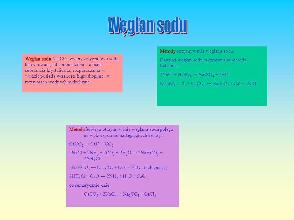 Jest Jest jedną z najważniejszych soli sodu i podstawowym surowcem przemysłu chemicznego. Stosuje się go w dużych ilościach do konserwowania żywności