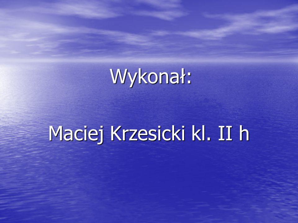 Wykonał: Wykonał: Maciej Krzesicki kl. II h