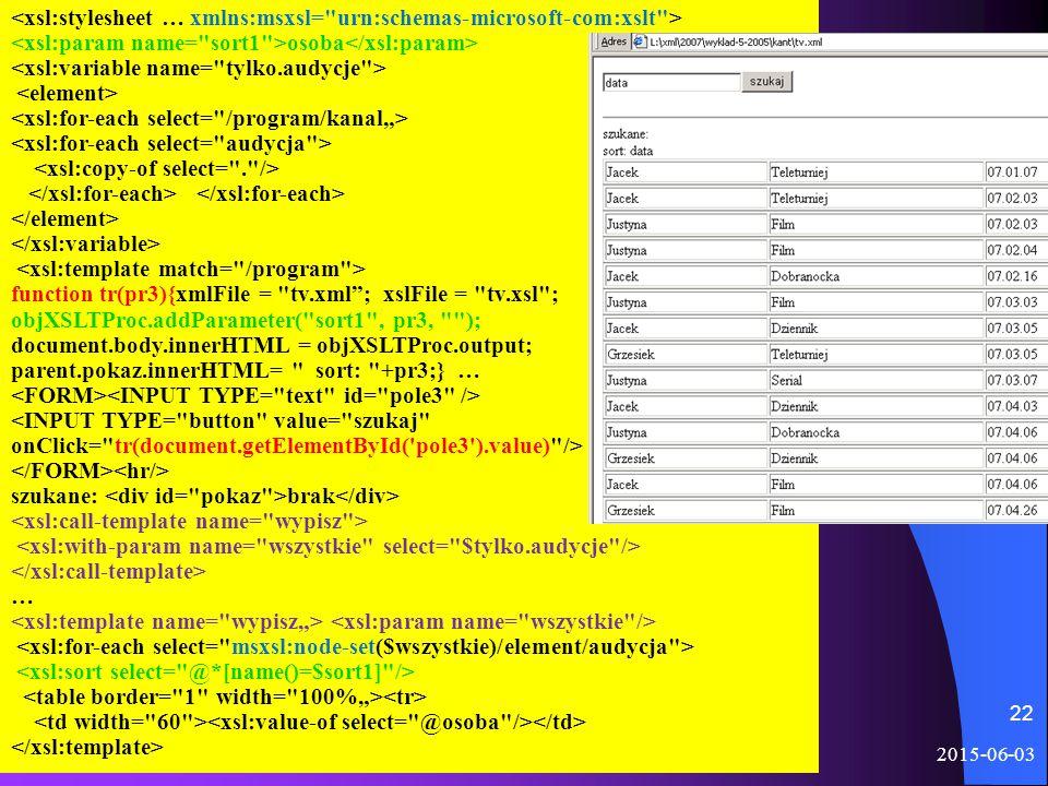 2015-06-03 METAJĘZYKI 22 osoba function tr(pr3){xmlFile =