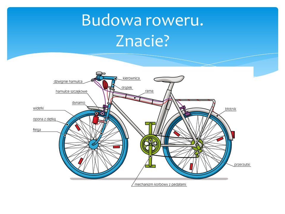  Znacie? Nam się wydawało, że znamy! Budowa roweru. Znacie?