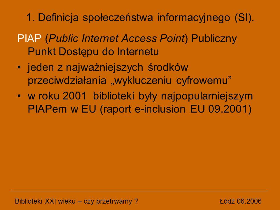 """PIAP (Public Internet Access Point) Publiczny Punkt Dostępu do Internetu jeden z najważniejszych środków przeciwdziałania """"wykluczeniu cyfrowemu"""" w ro"""