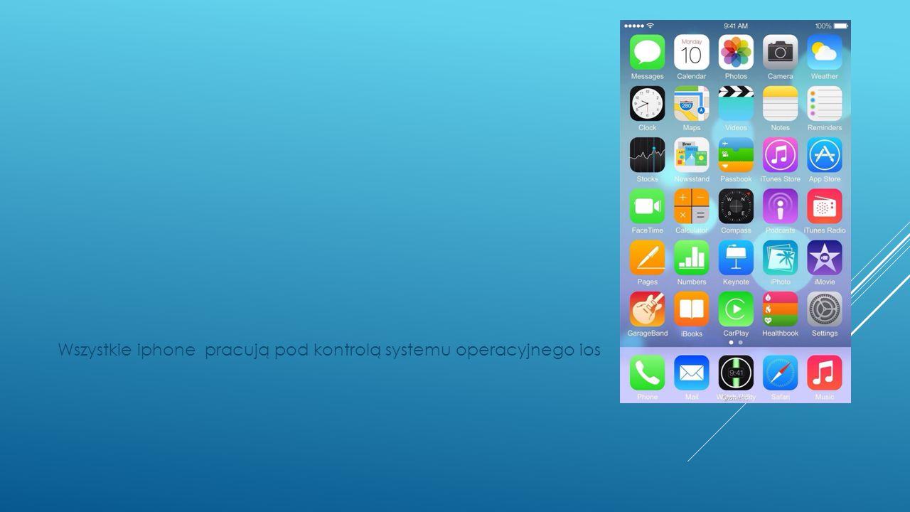 Wszystkie iphone pracują pod kontrolą systemu operacyjnego ios