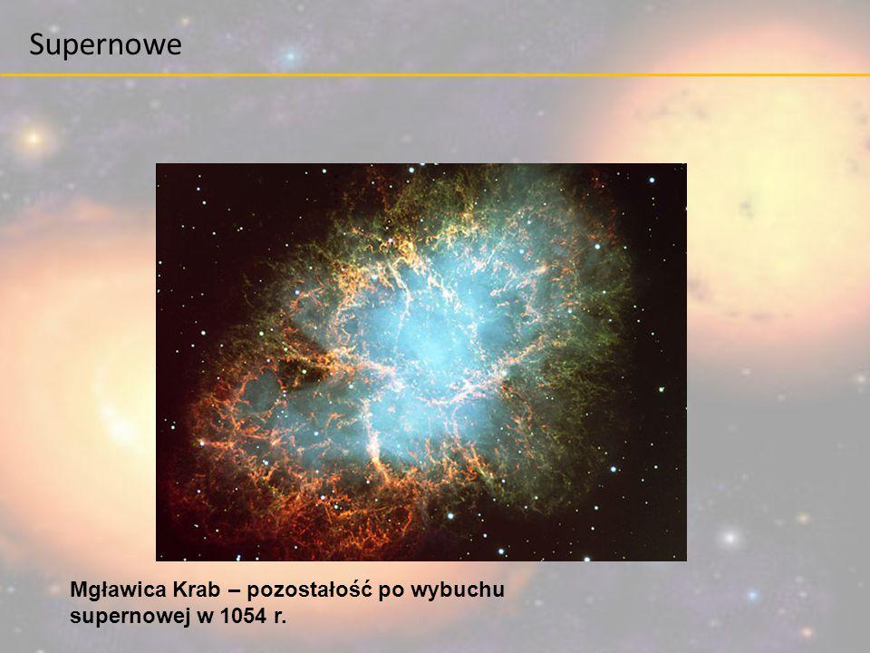 Mgławica Krab – pozostałość po wybuchu supernowej w 1054 r. Supernowe