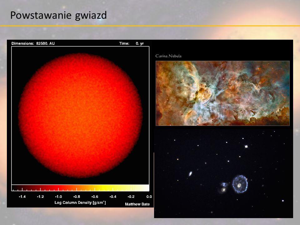 grawitacja ciśnienie Gwiazda w równowadze: grawitacja, która dąży do ściśnięcia gwiazdy jest powstrzymywana przez ciśnienie wytwarzane we wnętrzu.