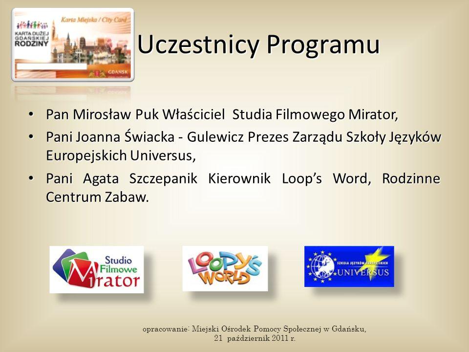 Uczestnicy Programu Pan Mirosław Puk Właściciel Studia Filmowego Mirator, Pan Mirosław Puk Właściciel Studia Filmowego Mirator, Pani Joanna Świacka -