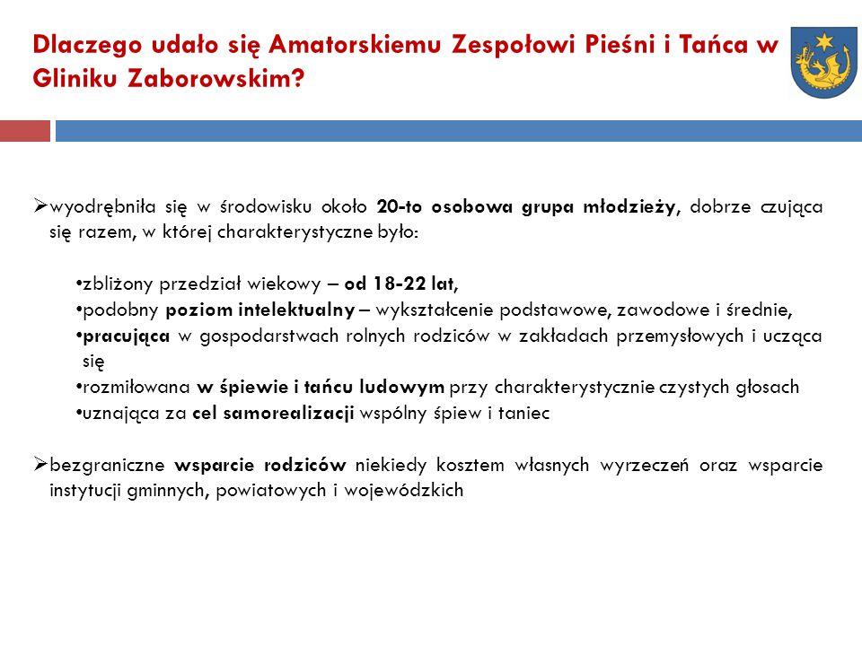 Dlaczego udało się Amatorskiemu Zespołowi Pieśni i Tańca w Gliniku Zaborowskim.