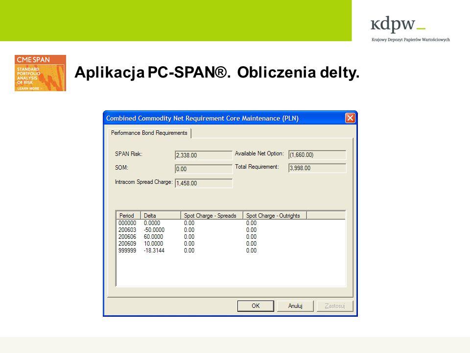 Aplikacja PC-SPAN®. Obliczenia delty.