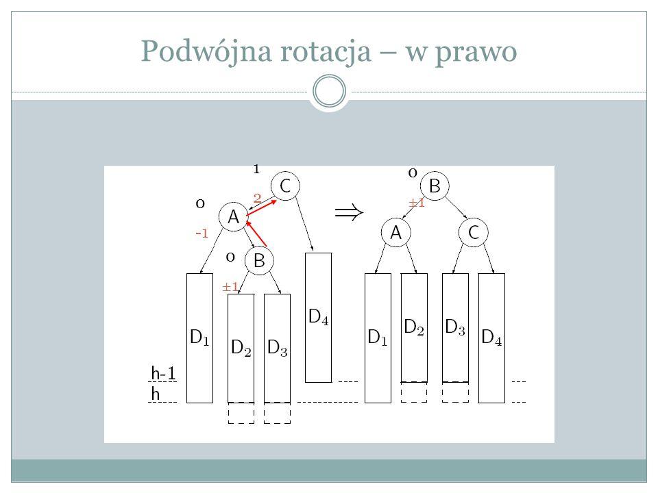 Podwójna rotacja – w prawo 1212 0 0 ±1 0±10±1