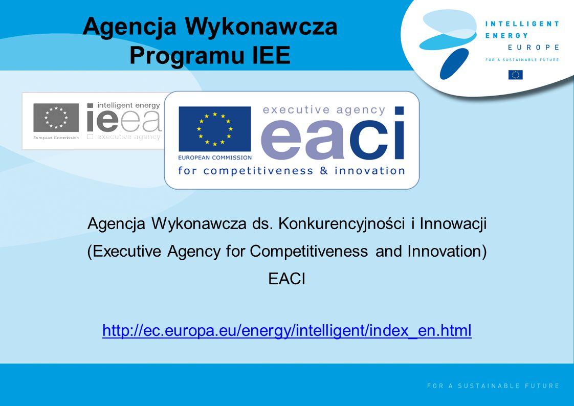 Agencja Wykonawcza Programu IEE Agencja Wykonawcza ds.