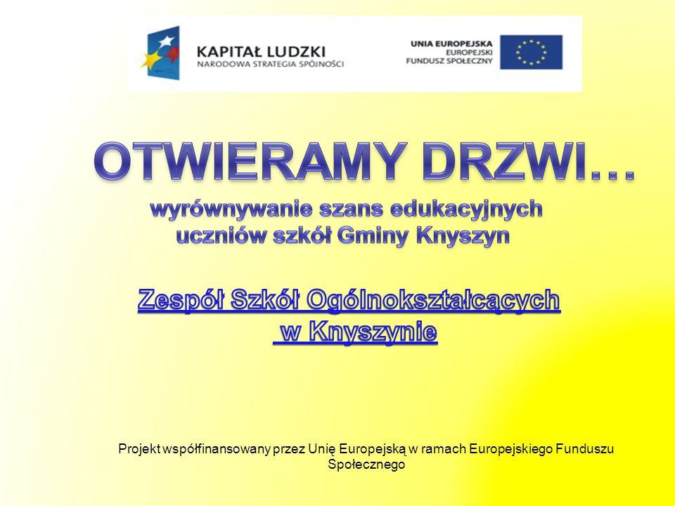 Projekt Nr WND-POKL.09.01.02-20-143/09 pt.