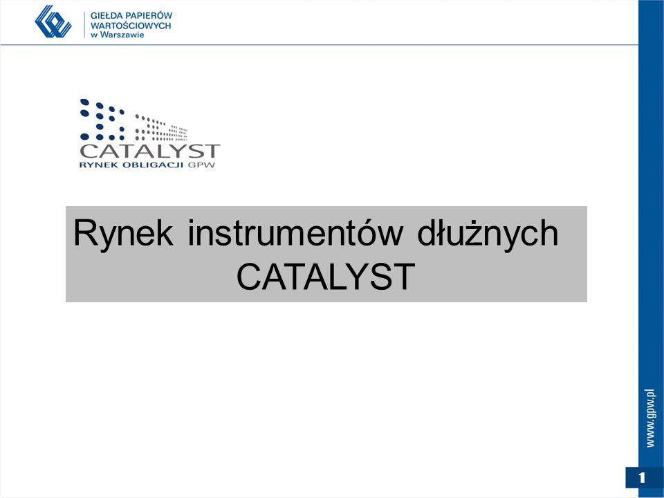 1 Rynek instrumentów dłużnych CATALYST