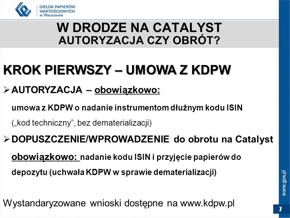 7 W DRODZE NA CATALYST AUTORYZACJA CZY OBRÓT.