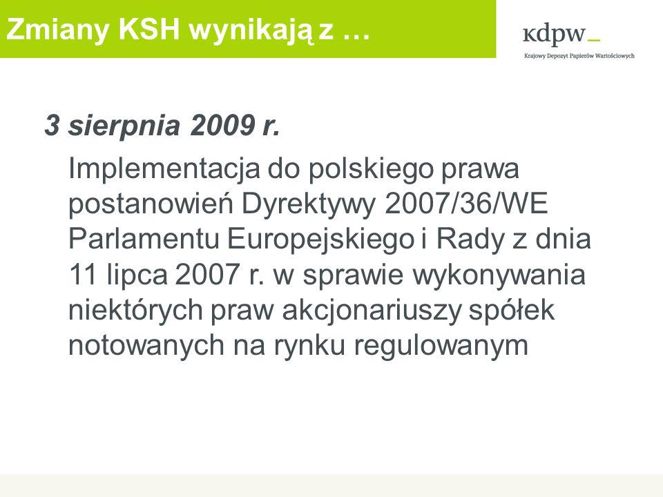 Dziękuję za uwagę www.kdpw.pl Krajowy Depozyt Papierów Wartościowych ul.