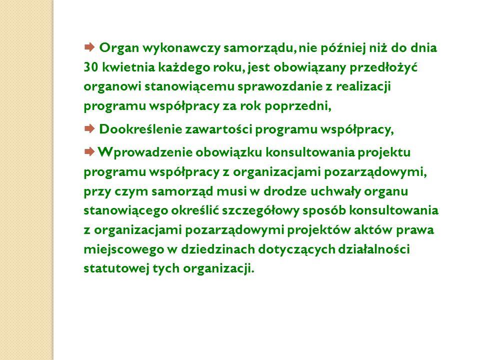  Organ wykonawczy samorządu, nie później niż do dnia 30 kwietnia każdego roku, jest obowiązany przedłożyć organowi stanowiącemu sprawozdanie z realiz