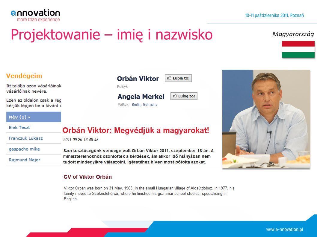Magyarország Projektowanie – imię i nazwisko