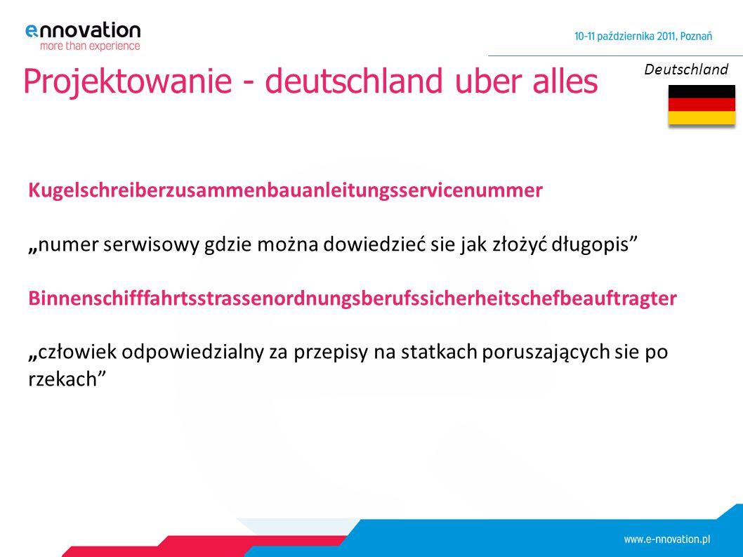 """Deutschland Projektowanie - deutschland uber alles Kugelschreiberzusammenbauanleitungsservicenummer """"numer serwisowy gdzie można dowiedzieć sie jak zł"""