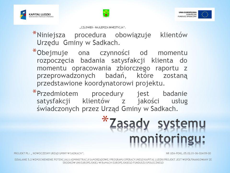 * Niniejsza procedura obowiązuje klientów Urzędu Gminy w Sadkach.