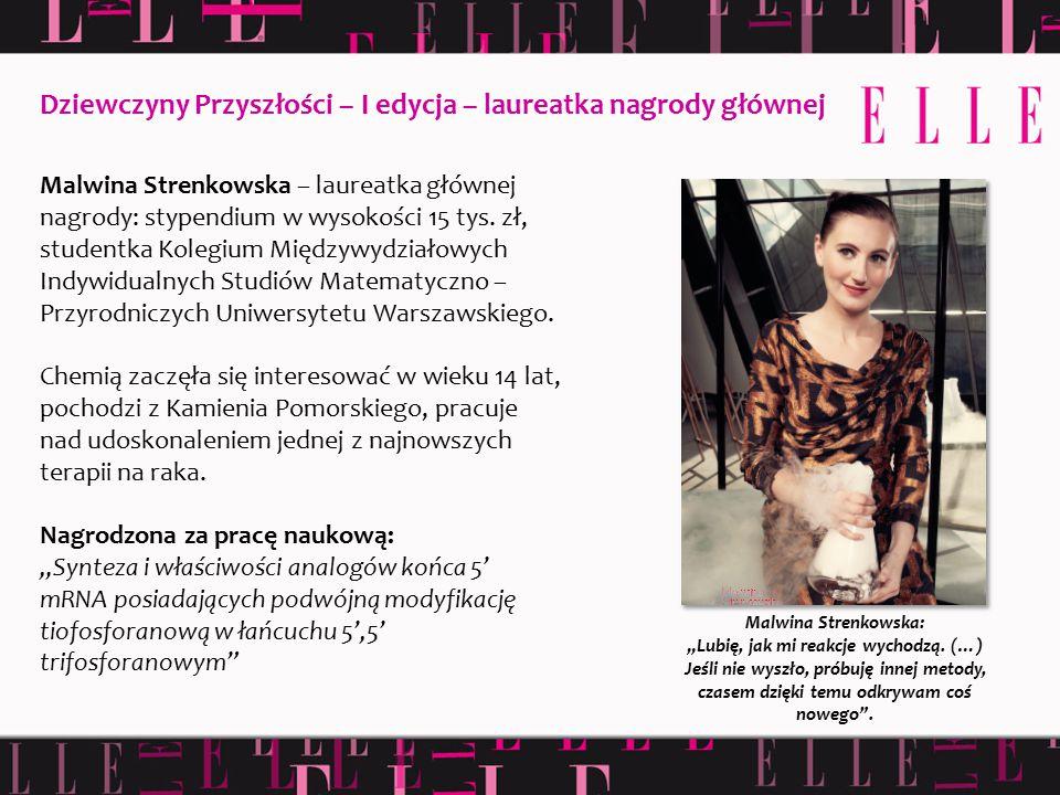 """Malwina Strenkowska: """"Lubię, jak mi reakcje wychodzą. (…) Jeśli nie wyszło, próbuję innej metody, czasem dzięki temu odkrywam coś nowego"""". Malwina Str"""