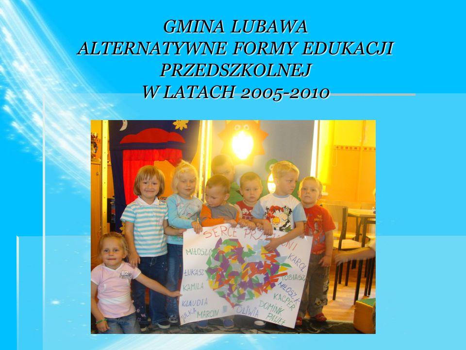 GMINA LUBAWA ALTERNATYWNE FORMY EDUKACJI PRZEDSZKOLNEJ W LATACH 2005-2010