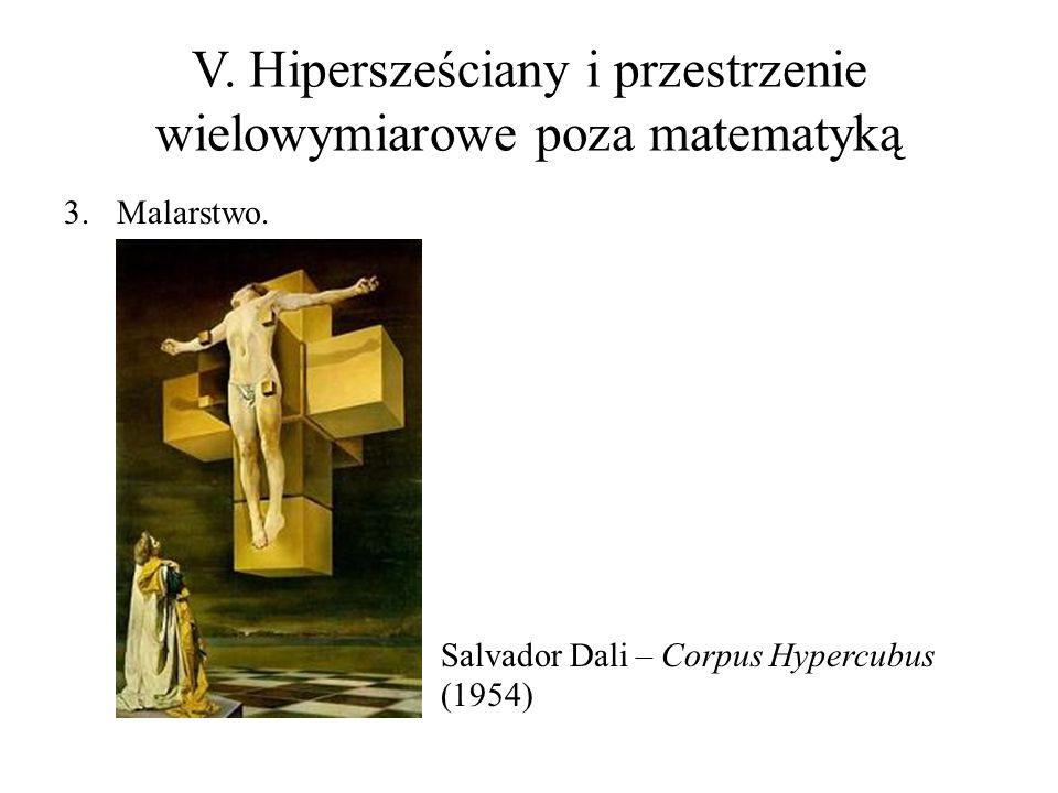 V. Hipersześciany i przestrzenie wielowymiarowe poza matematyką 3.Malarstwo. Salvador Dali – Corpus Hypercubus (1954)