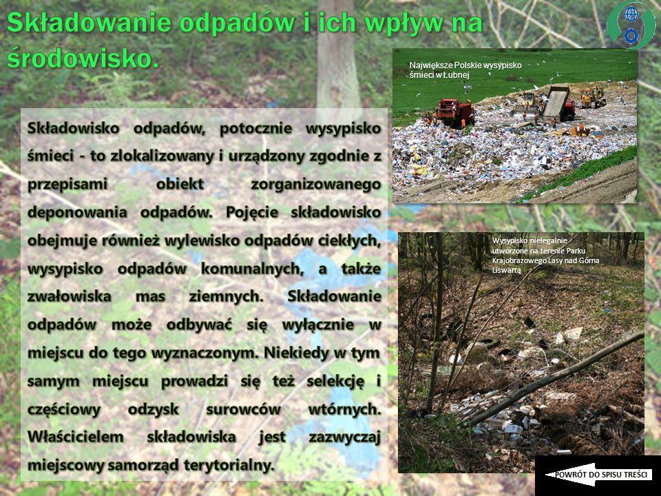 Największe Polskie wysypisko śmieci w Łubnej Wysypisko nielegalnie utworzone na terenie Parku Krajobrazowego Lasy nad Górna Liswartą