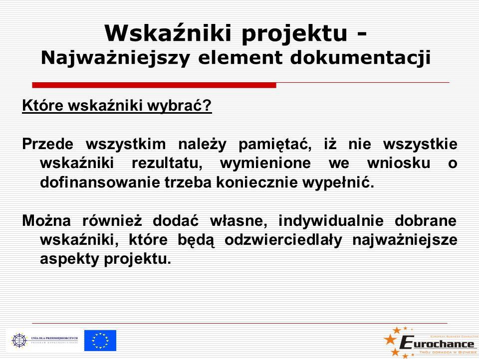 Wskaźniki projektu - Najważniejszy element dokumentacji Które wskaźniki wybrać.