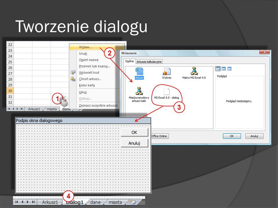 Tworzenie dialogu 1 2 3 4