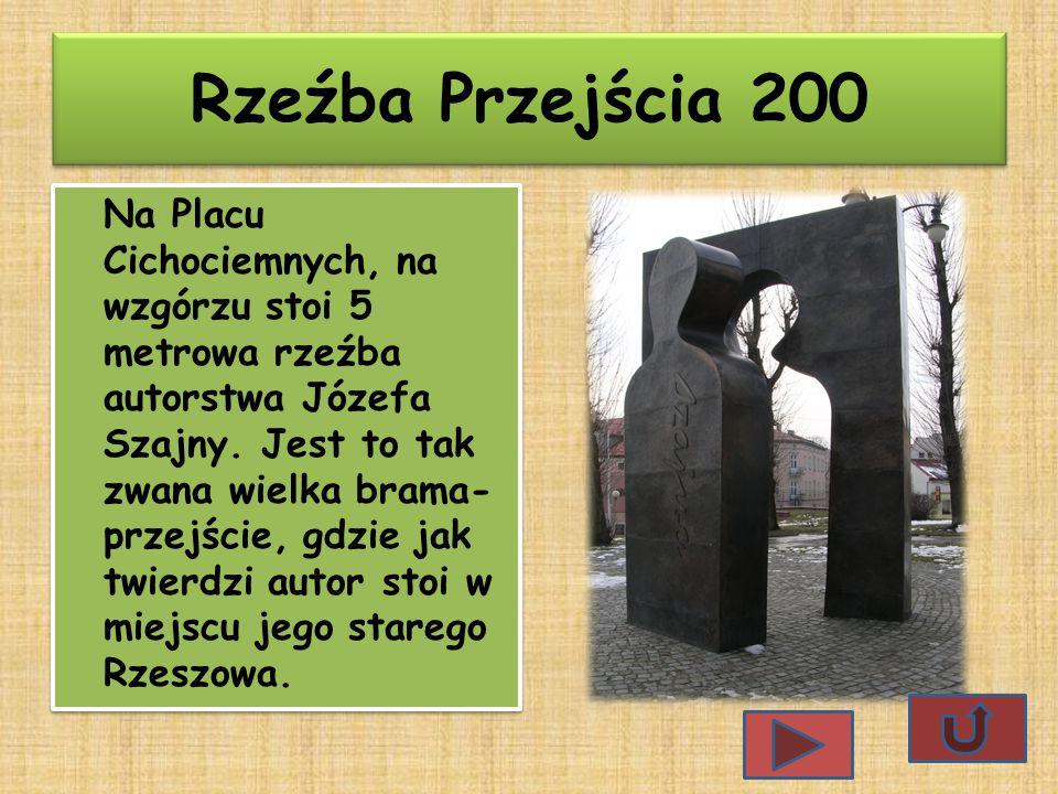 Rzeźba Przejścia 200 Na Placu Cichociemnych, na wzgórzu stoi 5 metrowa rzeźba autorstwa Józefa Szajny.