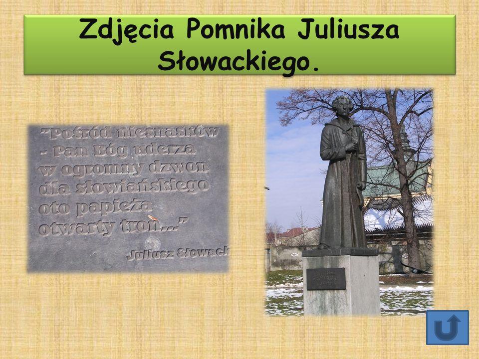 Zdjęcia Pomnika Juliusza Słowackiego.