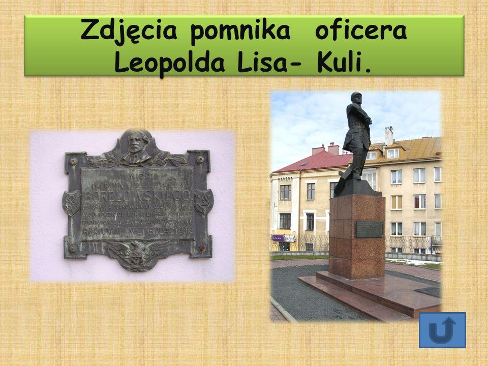 Zdjęcia pomnika oficera Leopolda Lisa- Kuli.