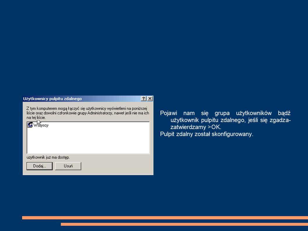 Zdalne sterowanie pulpitem za pomocą programu TeamViewer Jest to darmowy program do zdalnego sterowania drugim komputerem przez Internet bez konieczności instalacji klient/serwer.