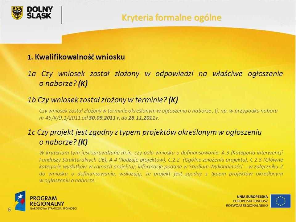 17 Kryteria formalne ogólne 10.
