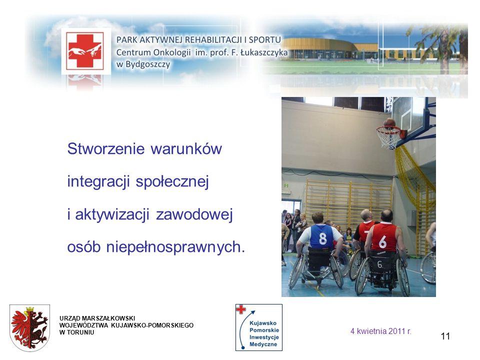 11 Stworzenie warunków integracji społecznej i aktywizacji zawodowej osób niepełnosprawnych.