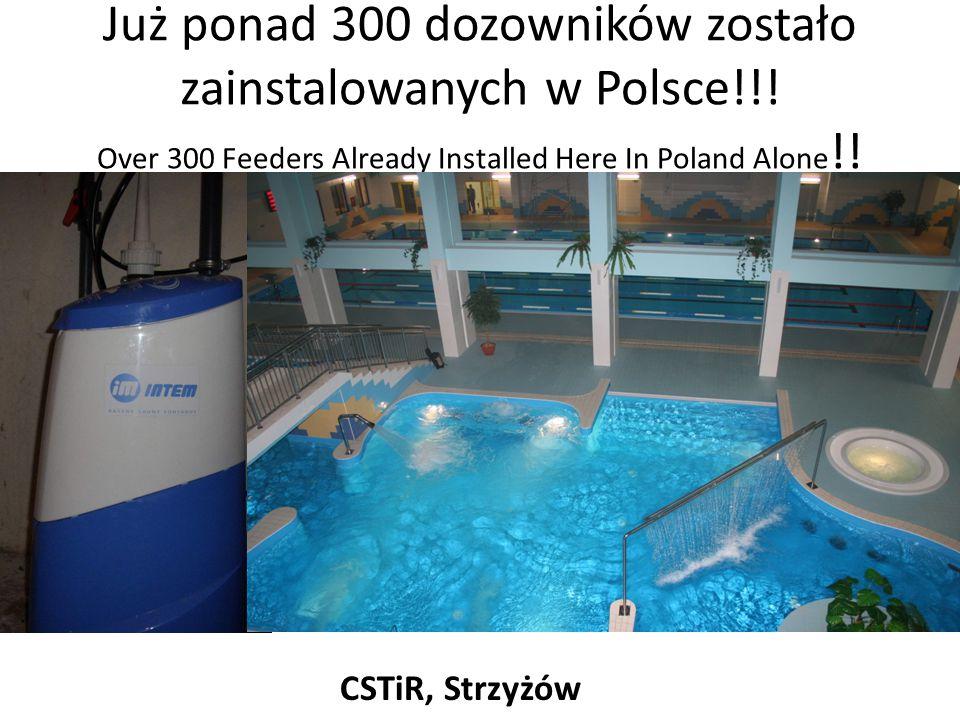 Już ponad 300 dozowników zostało zainstalowanych w Polsce!!! Over 300 Feeders Already Installed Here In Poland Alone !! CSTiR, Strzyżów