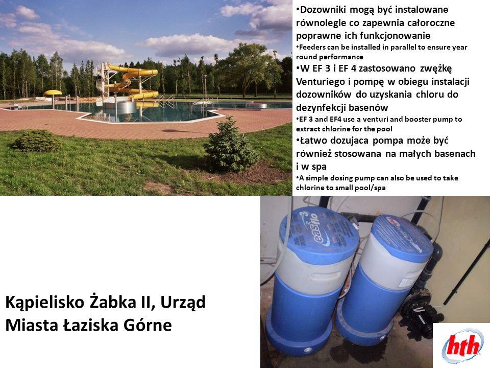Kąpielisko Żabka II, Urząd Miasta Łaziska Górne Dozowniki mogą być instalowane równolegle co zapewnia całoroczne poprawne ich funkcjonowanie Feeders c