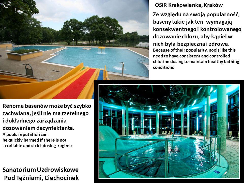 OSiR Krakowianka, Kraków Sanatorium Uzdrowiskowe Pod Tężniami, Ciechocinek Ze względu na swoją popularność, baseny takie jak ten wymagają konsekwentne