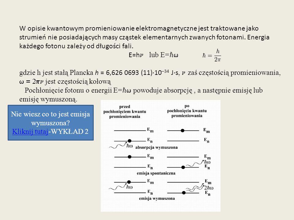 Właściwości fal elektromagnetycznych zależą od długości fali.