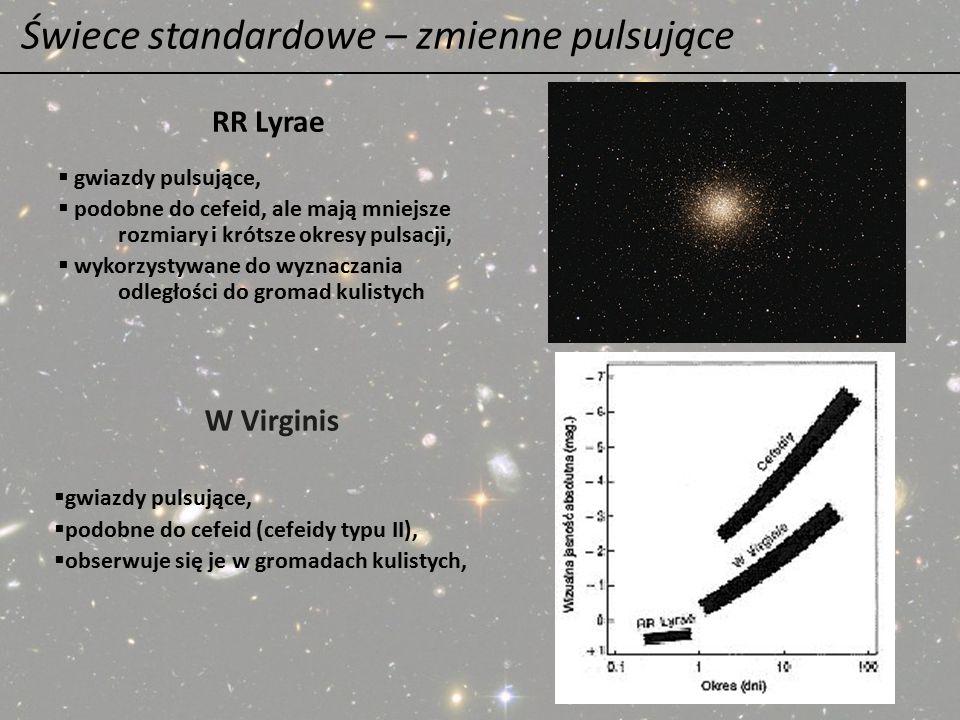 Świece standardowe – zmienne pulsujące  gwiazdy pulsujące,  podobne do cefeid, ale mają mniejsze rozmiary i krótsze okresy pulsacji,  wykorzystywan