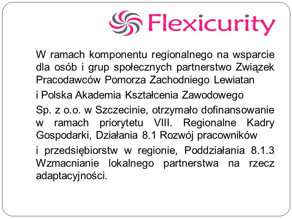 W ramach komponentu regionalnego na wsparcie dla osób i grup społecznych partnerstwo Związek Pracodawców Pomorza Zachodniego Lewiatan i Polska Akademia Kształcenia Zawodowego Sp.