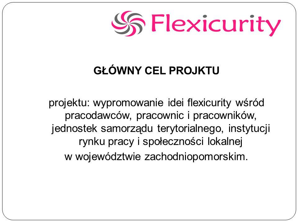 GŁÓWNY CEL PROJKTU projektu: wypromowanie idei flexicurity wśród pracodawców, pracownic i pracowników, jednostek samorządu terytorialnego, instytucji rynku pracy i społeczności lokalnej w województwie zachodniopomorskim.