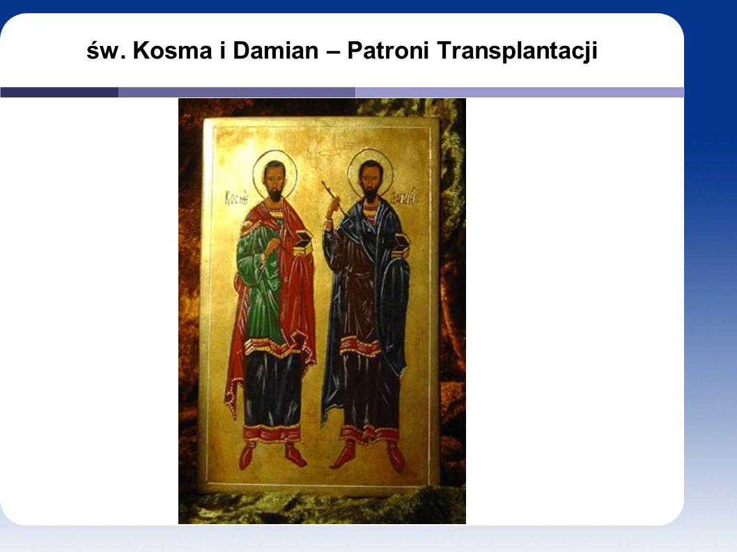 św. Kosma i Damian – Patroni Transplantacji