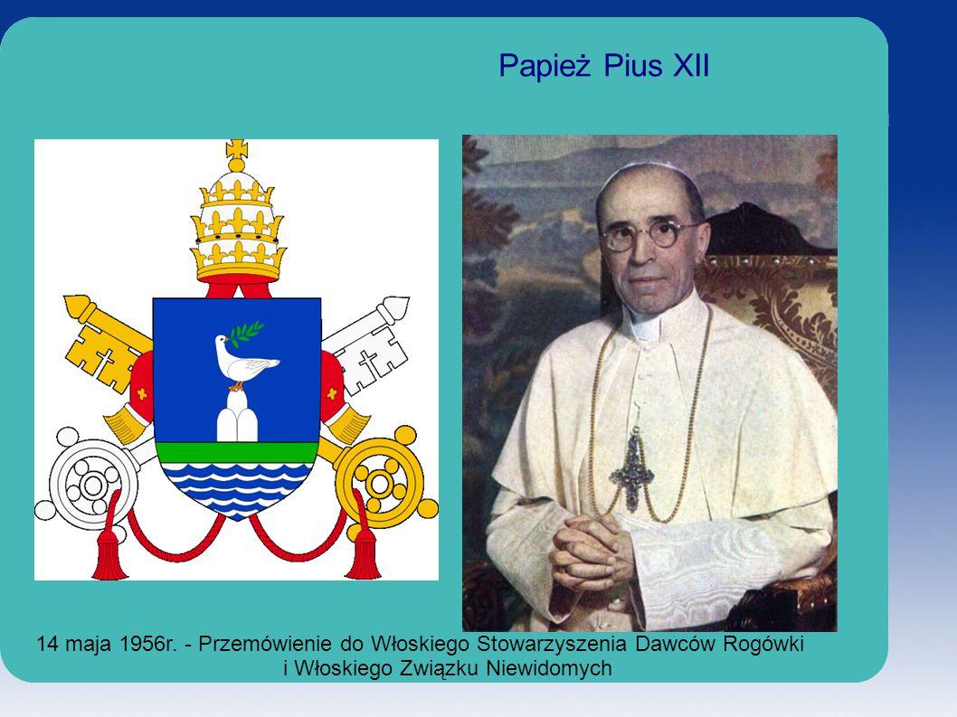 Papież Pius XII 14 maja 1956r.