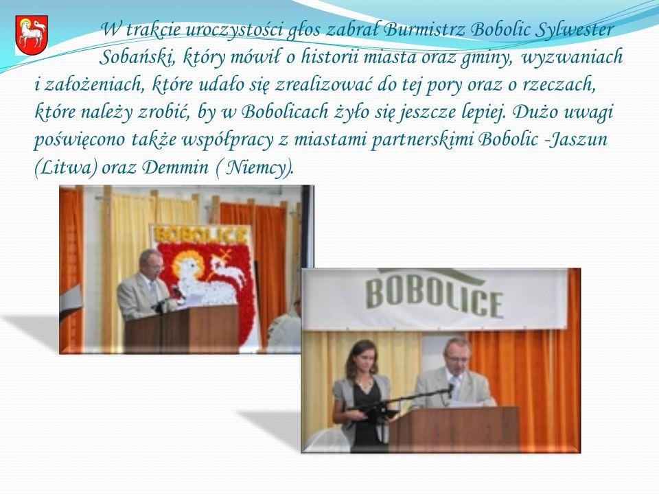Głos zabrał także Burmistrz Demmin - Ernst Wellmer, który mówił o sukcesach kooperacji obu miast, a także wręczył Burmistrzowi Bobolic - Sylwestrowi Sobańskiemu tytuł honorowego obywatela miasta Demmin.