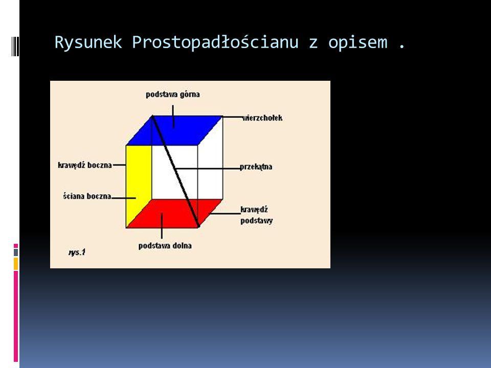 Rysunek Prostopadłościanu z opisem.