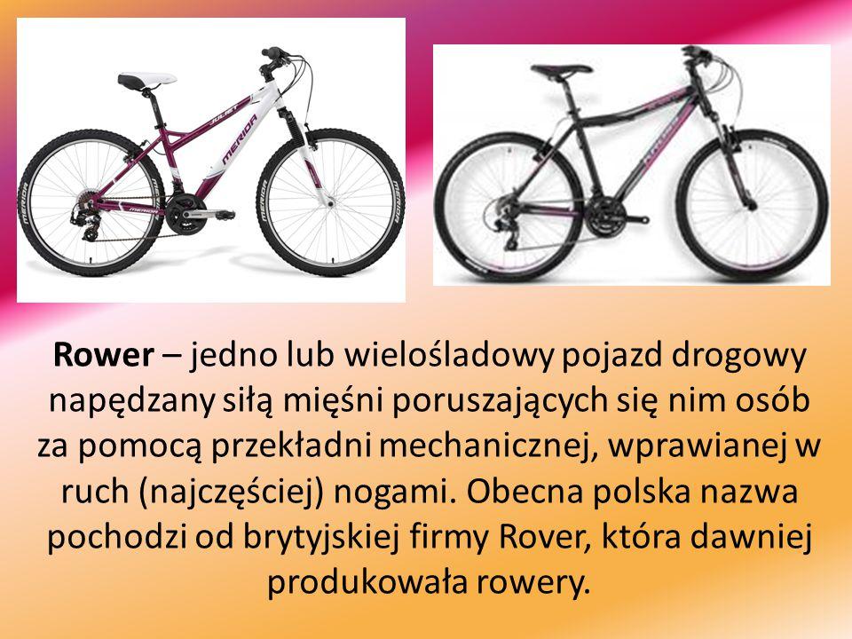 Rower – jedno lub wielośladowy pojazd drogowy napędzany siłą mięśni poruszających się nim osób za pomocą przekładni mechanicznej, wprawianej w ruch (n